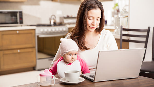 bigstock-Working-At-Home-With-A-Baby-116441300